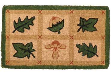 Kokosmatte Blätter - Laub - Fußmatte - 73x43 cm - Kokosfußmatte – Bild 1