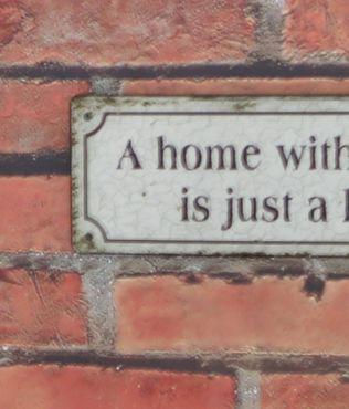 Blechschild  A home without a cat is just a house - Wandschild Shabby  – Bild 3