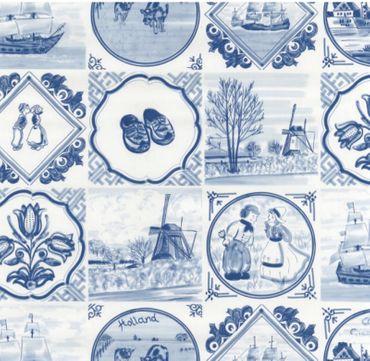 Klebefolie - Möbelfolie - Friesisch blau -  45 x 200 cm - Dekorfolie – Bild 1