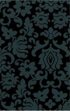 Klebefolie Dekorfolie - Barock Ornament schwarz  Möbelfolie 45x200 cm
