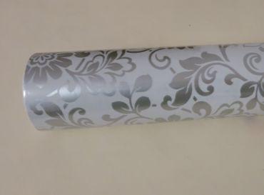 Klebefolie Möbelfolie ORNAMENT Heritage silber grau Dekorfolie Vintage – Bild 2