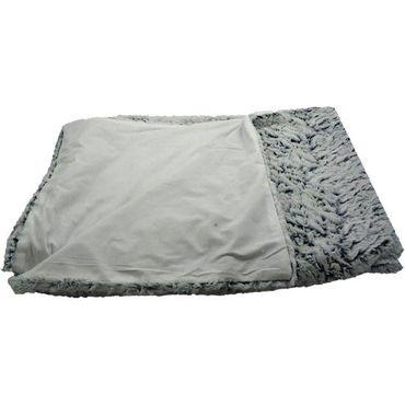 Wohndecke Wolken weiß - Webpelz Fake fur - Kuscheldecke 130 x 180 cm – Bild 2