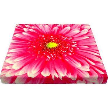 Dekokissen Sitzkissen Blume rosa / rosé Kissen 40 x 40 cm Stuhlkissen