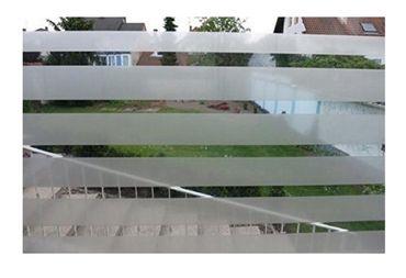 Fensterfolie Office Streifen - Statische Dekorfolie H 46cm Meterware – Bild 1