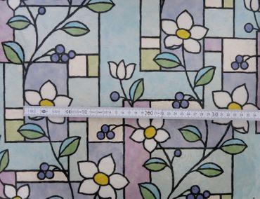 Fensterfolie Blumen bunt GLS 4657 Glasdekorfolie Linea Fix® Meterware – Bild 6