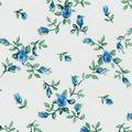 Klebefolie Möbelfolie - Rombo Biedermeier Blumen blau 45 cm x 15 Meter 001