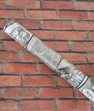 Klebefolie Comic schwarz weiß  Möbelfolie Dekorfolie 45cm x 15 Meter  – Bild 3