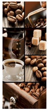 Textilbanner Kaffeegenuss - Kaffee Arabica - Deko Bild - Banner 75x180 – Bild 1