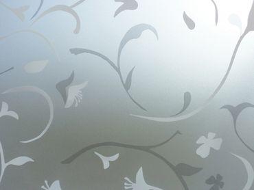 Statische Fensterfolie Roma - 90 cm x 46 cm - bedruckte Milchglasfolie