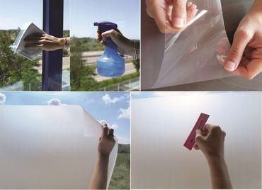 LINEA FIX statische Fensterfolie Roma - 130 x 46 cm - Milchglasfolie  – Bild 4