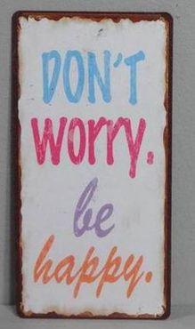 Kühlschrankmagnet Don´t worry, be happy - Vintge Deko Schild Nostalgie – Bild 3