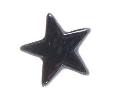 Möbelknopf Stern schwarz - Möbelgriff Sternenform - Porzellan Knauf – Bild 1