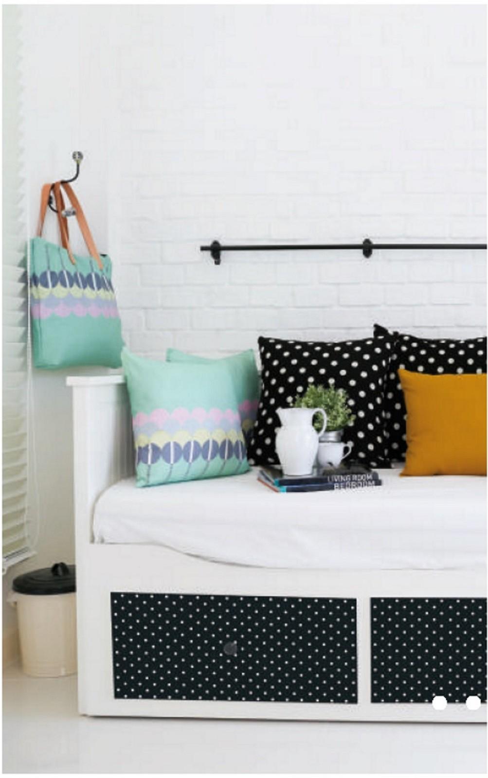 klebefolie m belfolie dots punkte blau selbstklebende. Black Bedroom Furniture Sets. Home Design Ideas
