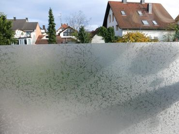 Fensterfolie ICE 110 x 90 cm - statische Dekorfolie Eis Frostmotiv  – Bild 2
