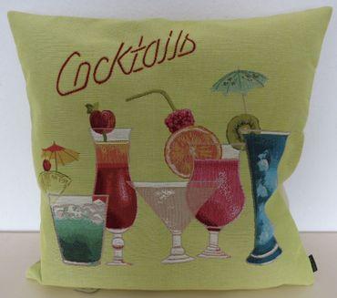 Zierkissen Kissenbezug Cocktails - Gobelin Kissen Summertime  48x48 cm – Bild 2