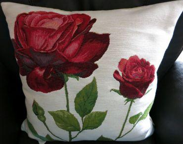 Zierkissen Kissenbezug Rosen - Gobelin-Kissen Blumen - ca 48 x 48 cm – Bild 5