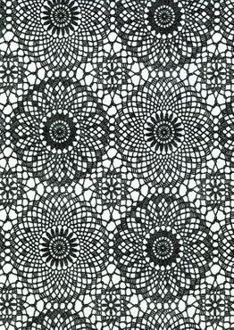 Klebefolie Spitze schwarz weiß - selbstklebende Folie Vintage 45x200 – Bild 1