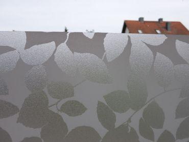 statische Fensterfolie Vitrostatic Brilliant LEAF - Dekorfolie Blätter