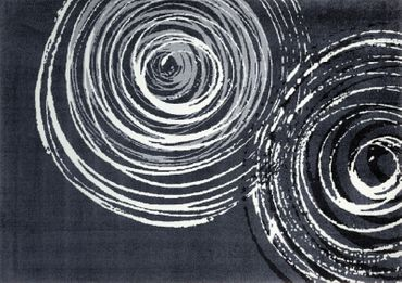 Teppich-Läufer Swirl grau weiß - Moderner Läufer - randlos waschbar – Bild 4
