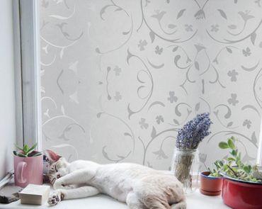 Fensterfolie Roma Blumen Ranken - statische Dekorfolie  Größenwahl – Bild 2