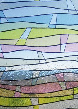 Fensterfolie Wellen bunt GLS 4651 - Statische Dekorfolie von Linea Fix – Bild 1