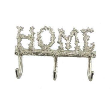 Wandhaken Garderobe HOME Ornamente 3 Haken Hakenleiste Schlüsselbrett  – Bild 1