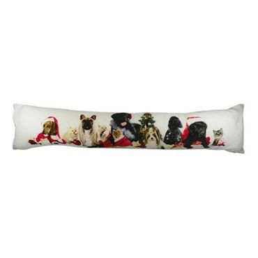 Zugluftstopper Hunde Tiere Weihnachten - Zugluftkissen Windstopper  – Bild 1