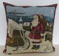 Kissenhülle Weihnachten Nikolaus - Nostalgie Kissenbezug ca. 45x45 cm