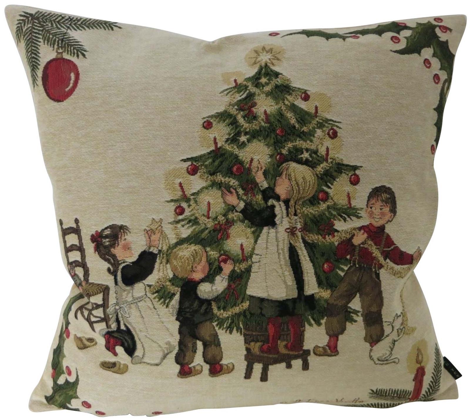Kissenhülle Weihnachten Nostalgie - Kissenbezug Kissen - ca 45x45 cm ...