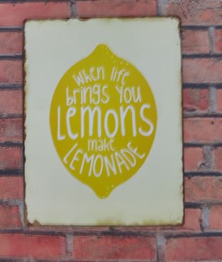 Blechschild  When life brings you Lemons make Lemonade - Wandschild  – Bild 2