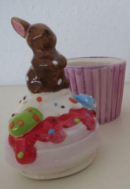 Hasen Dose aus Keramik bunt 2er Set -  Pralinendose  Ostern Osterhasen – Bild 3