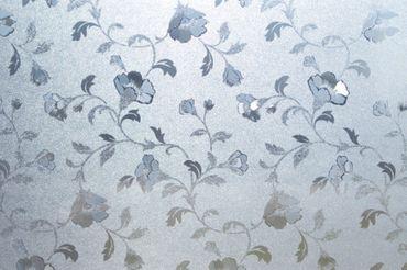 Fensterfolie Blumen Pion 45cm x 20 m - statische Dekorfolie Glasfolie – Bild 2