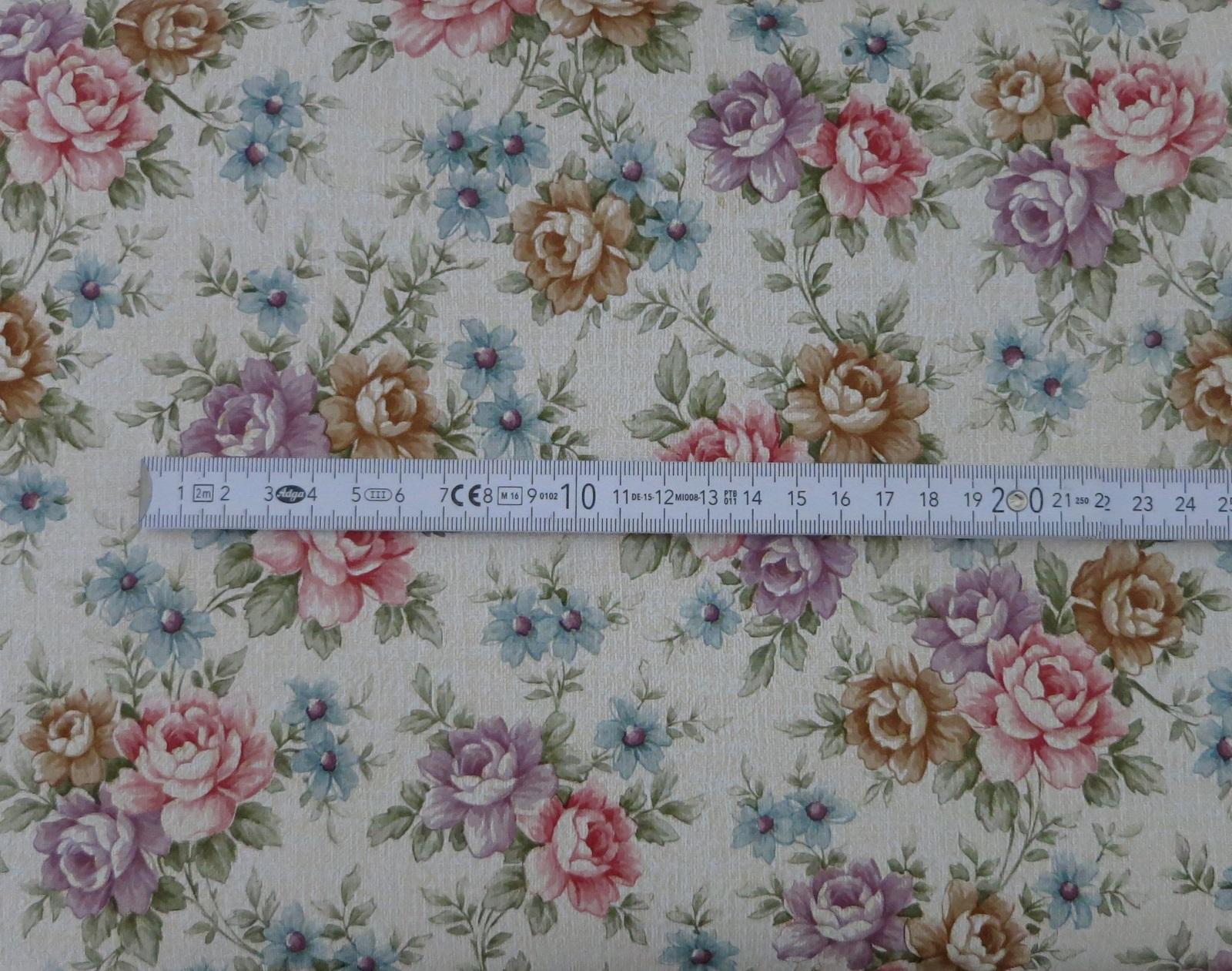 Klebefolie Rosen rot Möbelfolie Blumen Retro selbstklebende Dekorfolie 45x200 cm