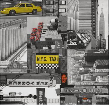 Klebefolie Möbelfolie New York City Taxi - Dekorfolie NY 45 x 200 cm