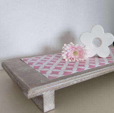 Klebefolie - Rauten pink Elliot - Möbelfolie - Dekorfolie 45x200 cm – Bild 3