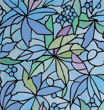 bunte Fensterfolie Nantes - Glasdekorfolie selbstklebend - Klebefolie – Bild 1