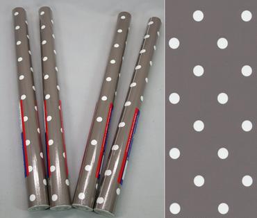 4er Set Klebefolie - Möbelfolie - Punkte Dots taupe  45 x 200 cm