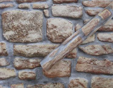 Klebefolie Steinwand Mauer rustikal - Möbelfolie Dekorfolie 45x200 cm – Bild 2