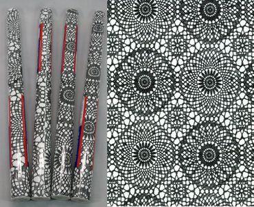 4er Set Klebefolie Spitze schwarz weiß Dekorfolie je Rolle 45x200 cm