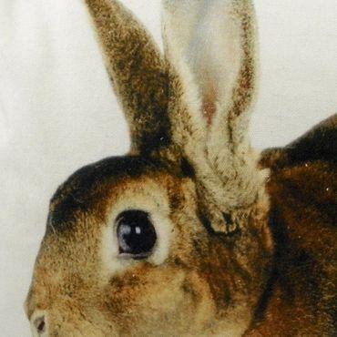 Zierkissen Hase - Dekokissen Kaninchen 50x35 cm Sofakissen Couchkissen – Bild 2