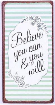 Kühlschrankmagnet - Believe you can & you will - Magnet Schild Shabby – Bild 3