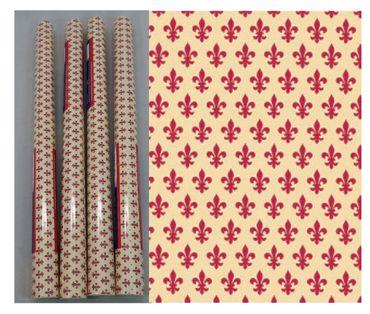 4er Set Klebefolie Lilie rot - Möbelfolie Lily red je Rolle 45x200 cm