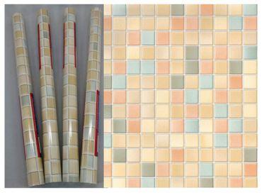 Klebefolie 4er Set - Mosaik Pienza - Möbelfolie 45x200 cm  Dekorfolie