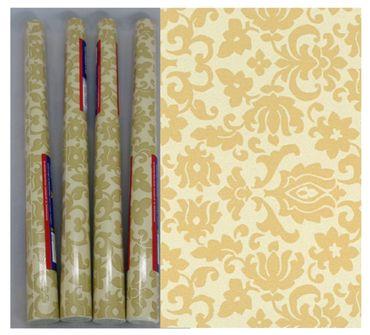 Klebefolie 4er Set  Barock Ornament beige - Möbelfolie je Rolle 45x200