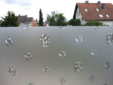 Fensterfolie Venetia Diamant - statische Dekorfolie -  Meterware – Bild 2