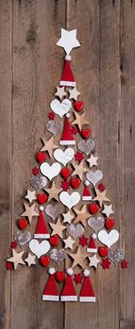 Textilbanner Weihnachten rustikal - Baum - Deko Bild Ladendeko 75x180