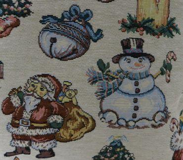 Zierkissen Weihnachten - Kissenhülle Dekokissen m. Tannenbaum Nikolaus – Bild 3