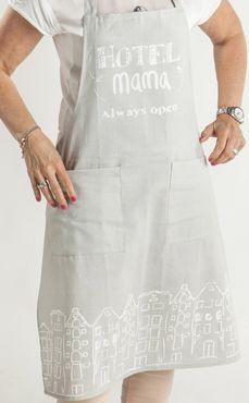 Kochschürze Hotel Mama sand - Schürze Baumwollschürze mit 2 Taschen