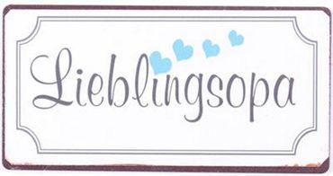 Kühlschrankmagnet Lieblingsopa - Lustiges Vintage Deko Schild Magnet  – Bild 3