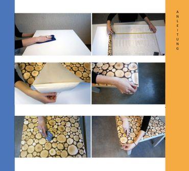 4er Set Klebefolie Holzoptik altes Holz Door - Möbelfolie Dekorfolie – Bild 3